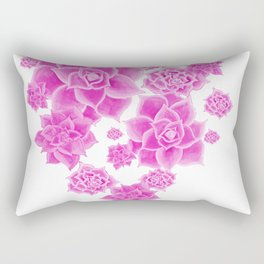 Succulents in the Mist  Rectangular Pillow