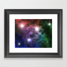 Space Clouds Framed Art Print