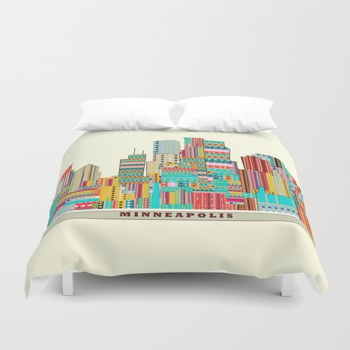 Minneapolis city  Duvet Cover