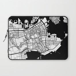 Manama City Map Bahrain - Full Moon Laptop Sleeve