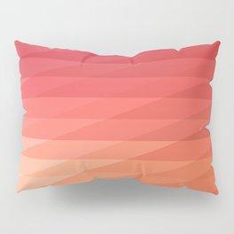 Fig. 044 Coral, Pink & Peach Geometric Diagonal Stripes Pillow Sham