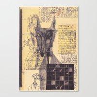 werewolf Canvas Prints featuring werewolf by Spookfish