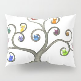 Paraguay Whimsical Cats in Tree Pillow Sham
