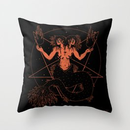 Dark Siren Throw Pillow