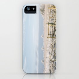 Rural scene covered in a thick hoar frost. Norfolk, UK. iPhone Case