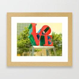 Philadelphia Love Framed Art Print