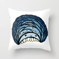 minions Throw Pillows featuring Minions by Bird and Bear Studio