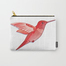Red hummingbird colibri. Carry-All Pouch