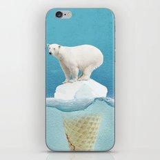 Polar ice cream cap iPhone Skin