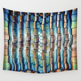 Abstract Architectural Pillars Wall Tapestry