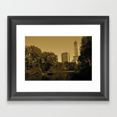 Central Park East Framed Art Print