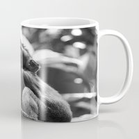 monkey Mugs featuring Monkey  by Laura James Cook