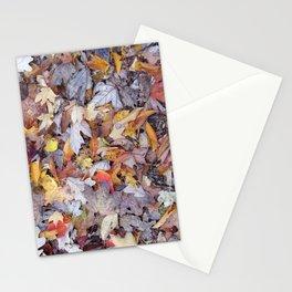 leaf litter menagerie Stationery Cards