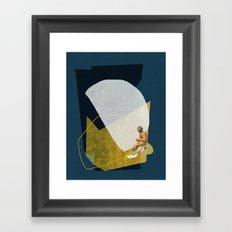 Man On The Sea Framed Art Print