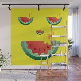 Watermelonween Face Wall Mural
