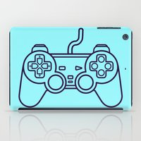 playstation iPad Cases featuring Playstation 1 Controller - Retro Style! by Rikard Röhr
