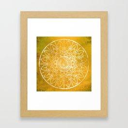 Fire Blossom - Yellow Framed Art Print