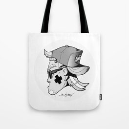 WAVEJAMMER SURFING COMPANY / JET B&W Tote Bag