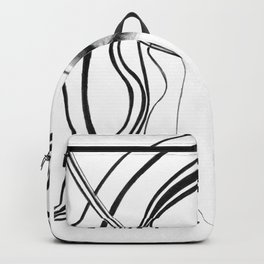 Fashion girl with smoky eyes Backpack