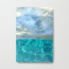 seascape 006: solo flight over swimming pool Metal Print