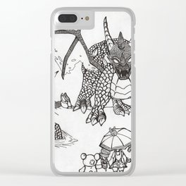 Time to fight Clear iPhone Case