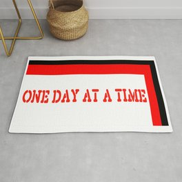 One Day at a Time (red brick) Rug
