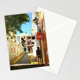 Stop Sign - Pare Stationery Cards