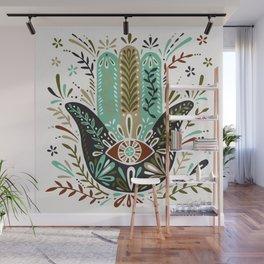 Hamsa Hand – Earth Palette Wall Mural