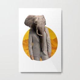 Mr Elephant Metal Print