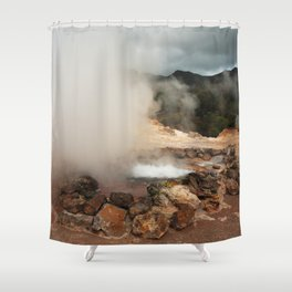 Volcano in Azores Shower Curtain