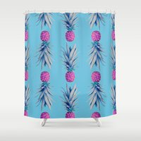 psych Shower Curtains featuring You're the pineapple of my eye by picturing juj