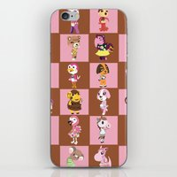animal crossing iPhone & iPod Skins featuring Animal Crossing: Chocolate Strawberry by Square Aquarium