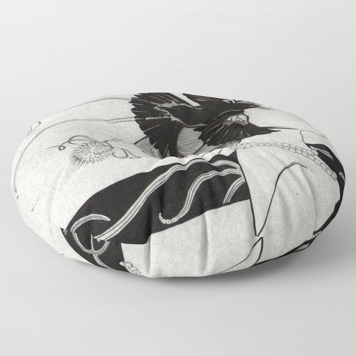 Passerine (Mata Hari with teasel) Floor Pillow