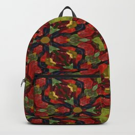Green and dark blue gummy bears 5197 Backpack