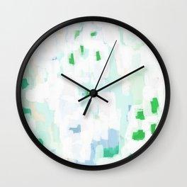 Sevli - abstract painting minimal art trendy colors dorm college home decor canvas wall art Wall Clock