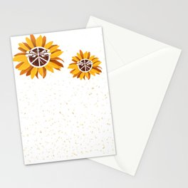 Vintage Faith Hope Love Peace Sign SunFlower Peoria City Stationery Cards
