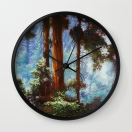 The Forrest Through the Trees Wall Clock