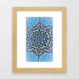 Icy Blue Mandala Framed Art Print