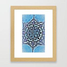 Icy Blue Mandala Framed Art Print
