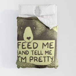 Feed Me And Tell Me I'm Pretty (Yellow) Comforters