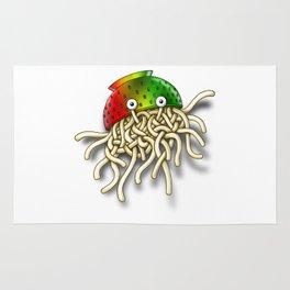 Pastafarian Flying Spaghetti Monster Rastafarian FSM Colander Rug