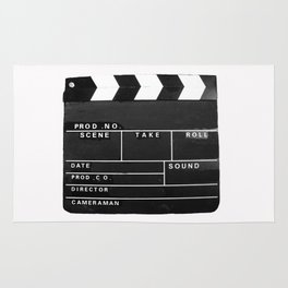 Film Movie Video production Clapper board Rug