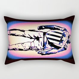 Star Spangled Man Turned Hero Rectangular Pillow