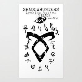 ShadownhuntersRune with Runes Art Print