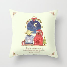 Hrm, Christmas Jumpers, yes! Throw Pillow