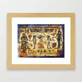 Ancient Aliens Framed Art Print