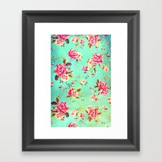 Vintage Flowers XLIII - for iphone Framed Art Print