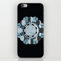 moon phases iPhone & iPod Skins featuring Moon Phases by TypicalArtGuy