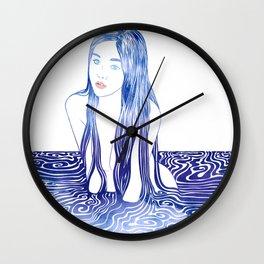 Water Nymph L Wall Clock