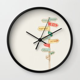 Happiness is everywhere Wall Clock